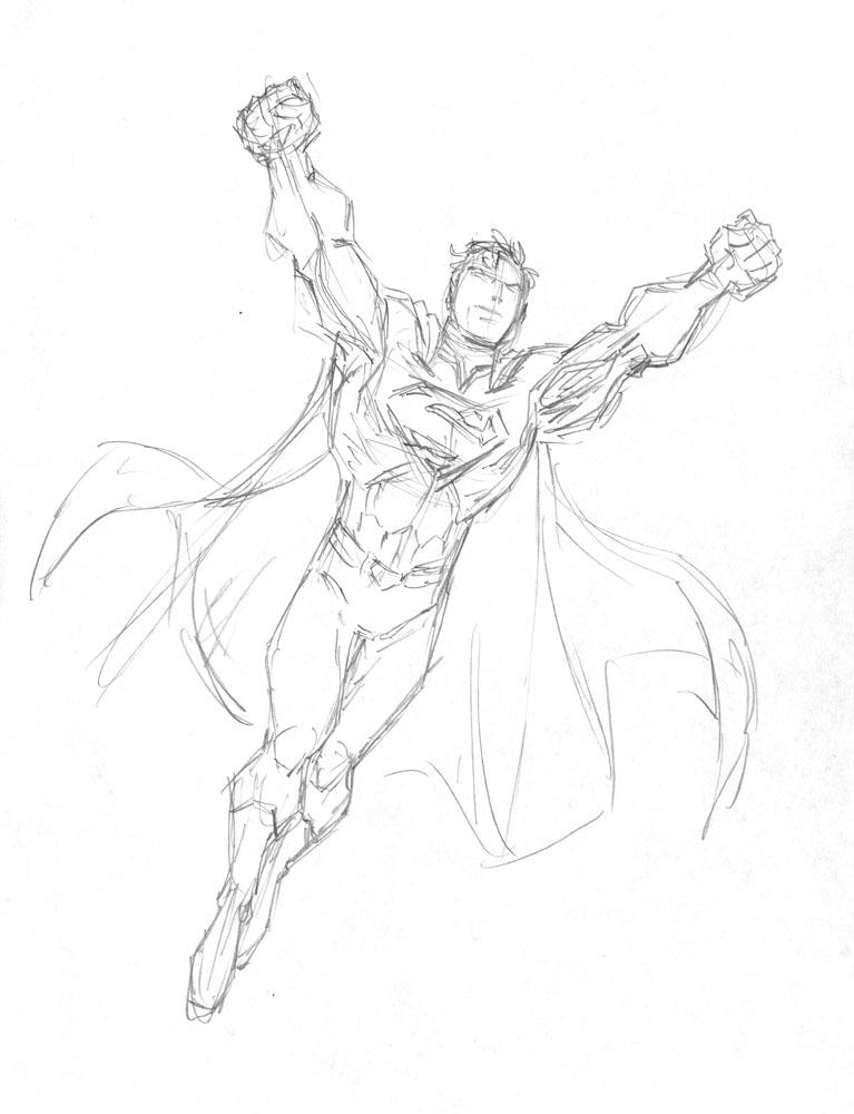 New 52 Superman Sketch Templates